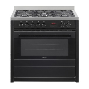 90cm Dual Fuel Cooker (Matte Black)